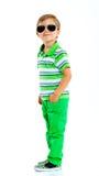 Chłopiec w okularach przeciwsłonecznych Zdjęcia Royalty Free