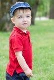 Chłopiec w parku Obrazy Royalty Free