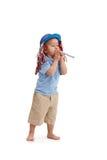 Chłopiec w partyjnej odzieży fotografia stock