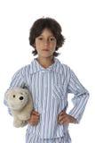 Chłopiec w pyjamas zdjęcie stock