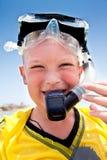 chłopiec wakacje morze zdjęcia royalty free