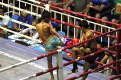 Chłopiec walczyć tajlandzki zdjęcia royalty free