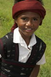 Chłopiec wewnątrz w tradycyjnym odzieżowym Flores Indonezja Obraz Royalty Free