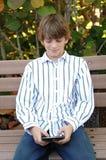 chłopiec wiadomości dosłania tekst Zdjęcie Royalty Free