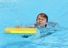 Chłopiec wodę w oczach Obraz Royalty Free