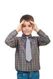 chłopiec wprawiać w zakłopotanie dzieciak Fotografia Stock