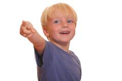 chłopiec wskazuje ty Zdjęcia Stock