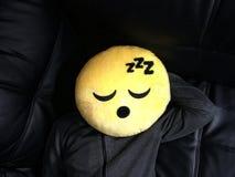Chłopiec z śmieszną emoticon twarzą Obraz Stock
