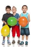 Chłopiec z balonami obraz royalty free