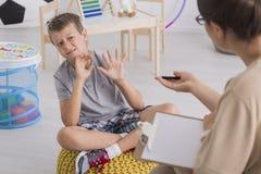 Chłopiec z behawioralnymi problemami obraz stock