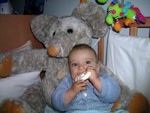 Chłopiec z dużymi oczami zdjęcia royalty free