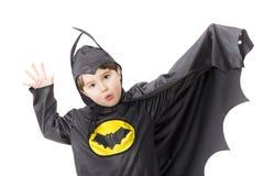 Chłopiec z karnawałowym kostiumem. Zdjęcia Royalty Free