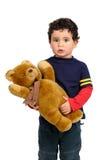 Chłopiec z misiem pluszowym Zdjęcia Stock