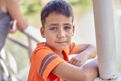 Chłopiec z pięknymi zielonymi oczami zdjęcia royalty free