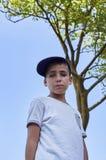 Chłopiec z pięknymi zielonymi oczami fotografia stock