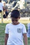 Chłopiec z pięknymi zielonymi oczami obraz stock