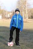 Chłopiec z piłką Obrazy Royalty Free