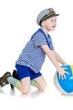 Chłopiec z piłką obrazy stock