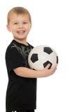 Chłopiec z piłki nożnej ball Obrazy Stock