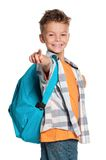 Chłopiec z plecakiem Obraz Royalty Free