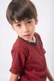 Chłopiec z smucenie twarzą i oko portretem Zdjęcia Stock