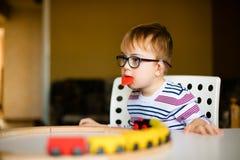 Chłopiec z syndromu świtem Obrazy Stock