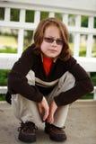Chłopiec z szkłami Obraz Royalty Free