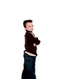 chłopiec zażarta Zdjęcia Royalty Free