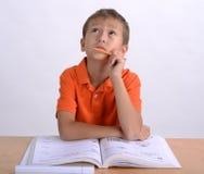 chłopiec zadanie domowe Zdjęcia Stock