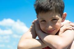 chłopiec zadawalająca Zdjęcie Royalty Free