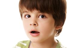 chłopiec zaskakująca Zdjęcie Royalty Free