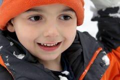chłopiec zima Zdjęcia Royalty Free