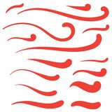 Chłosta, Swashes i Swooshes, - Retro Tshirt słowa sztuka Typograph royalty ilustracja
