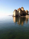 ch-chillon montreux för 3 slott Arkivbilder