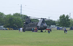 CH-47 Chinook and people Royalty Free Stock Photo