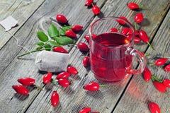 Chá cor-de-rosa do cão Fotografia de Stock Royalty Free