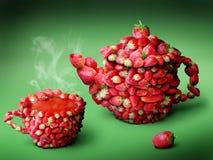 Chá das morangos Fotos de Stock Royalty Free