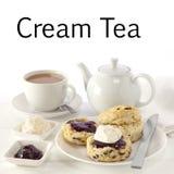 Chá de creme Imagem de Stock