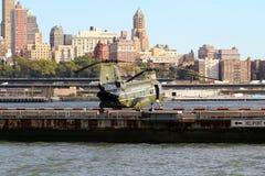 CH-46E华尔街HELI口岸 库存图片
