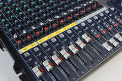 CH Max Volume Of Sound Mixing Board For Music. Royalty Free Stock Photos