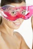 chłodnicza facial maski kobieta Zdjęcie Royalty Free