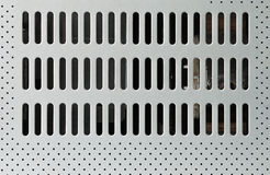 chłodno dziur kruszcowy talerz Fotografia Stock