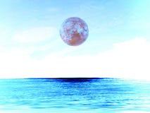 Chłodno planeta na niebie w zimie, elementy ten wizerunek mebluje Obraz Royalty Free