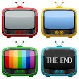 chłodno retro ustalona telewizja Zdjęcie Stock