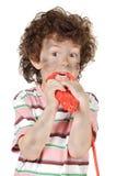 chłopak ofiary energii elektrycznej Zdjęcie Royalty Free