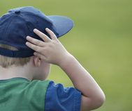 chłopak patrzy Fotografia Stock