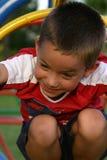 chłopcy 6 plac zabaw Fotografia Royalty Free