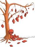 chłopcy drzewo Zdjęcia Royalty Free