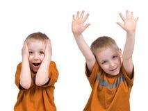 chłopcy emocji Zdjęcie Royalty Free