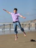 chłopcy jumping Zdjęcie Stock
